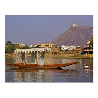 Carte Postale Petit bateau, lac Pichola, Udaipur, Inde