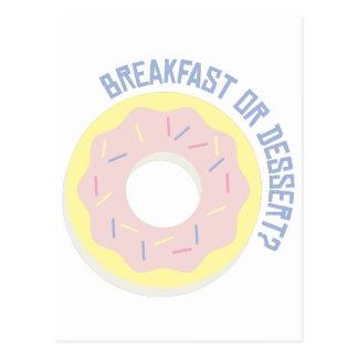 Carte Postale Petit déjeuner ou dessert