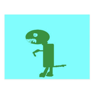 Carte Postale Petit Dino vert doux, art numérique par des