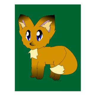 Carte Postale Petit Fox délabré mignon