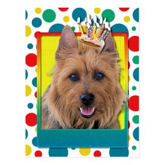 Carte Postale Petit gâteau d'anniversaire - Terrier australien