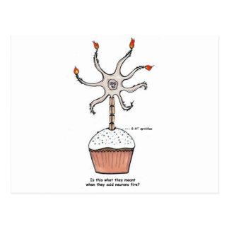 Carte Postale Petit gâteau de neurone de joyeux anniversaire