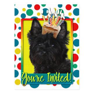 Carte Postale Petit gâteau d'invitation - cairn Terrier - Rosco