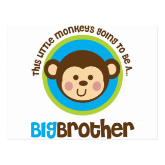 Carte Postale Petit singe allant être un frère