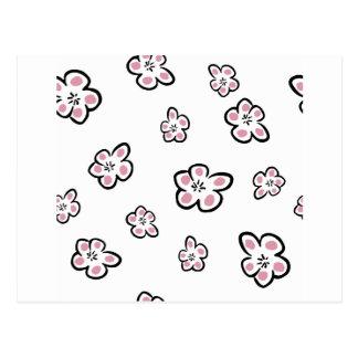 Carte Postale petite fleur de prune