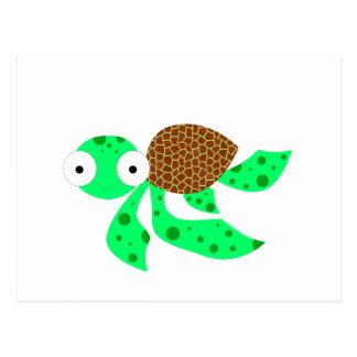 Carte Postale Petite tortue de mer idiote