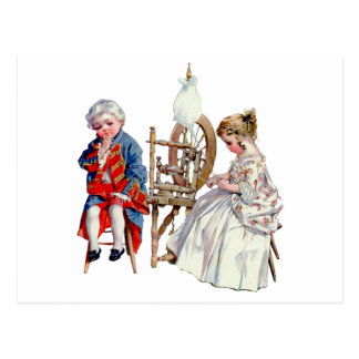 Carte Postale Petits George et Martha Washington