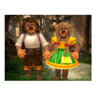 Carte Postale Petits ours Hansel et Grethel