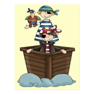 Carte Postale Petits pirates