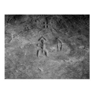 Carte Postale Pétroglyphes Michigan de Sanilac le chasseur