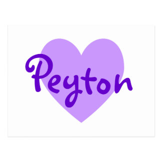 Carte Postale Peyton dans le pourpre