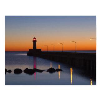 Carte Postale Phare du nord de pilier à Duluth, Minnesota,
