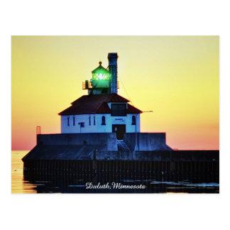 Carte Postale Phare Duluth, Minnesota de lever de soleil