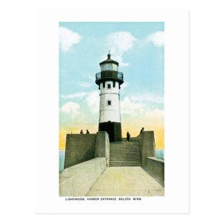 Carte Postale Phare, entrée de port, Duluth, Minnesota