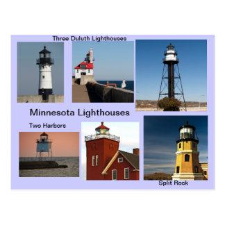 Carte Postale Phares du Minnesota