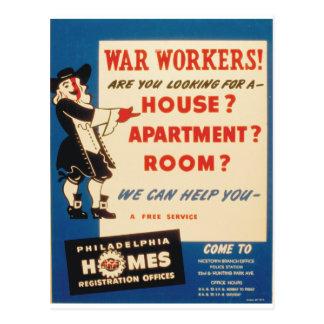 Carte Postale Philadelphie peut aider la guerre des travailleurs