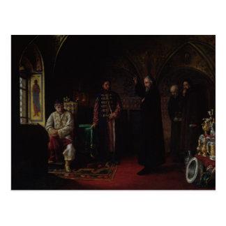 Carte Postale Philip métropolitain de Moscou avec le tsar Ivan