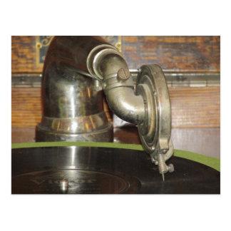 Carte Postale Phonographe antique
