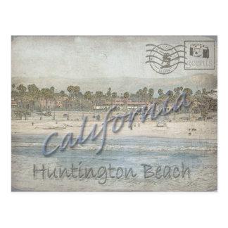 Carte Postale Photo prise en janvier de Huntington BCH, CA