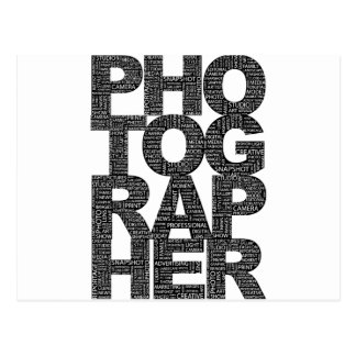 Carte Postale Photographe - texte noir