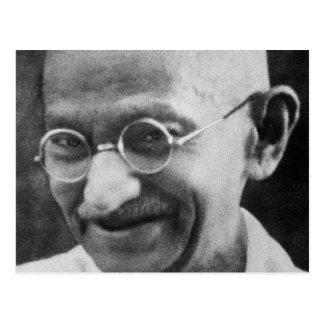 Carte Postale Photographie de portrait de Mahatma Gandhi