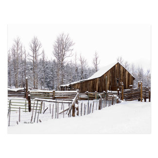Carte Postale Photographie de scène rurale de grange de Milou