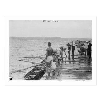 Carte Postale Photographie d'équipe d'équipage d'aviron de