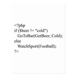 Carte Postale PHP et bière