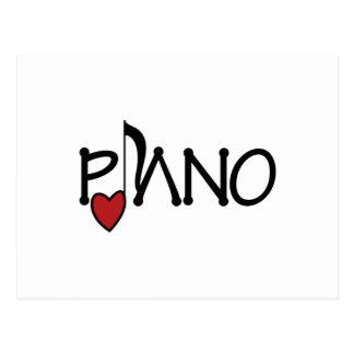 Carte Postale Piano
