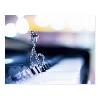 Carte Postale Piano Gclef