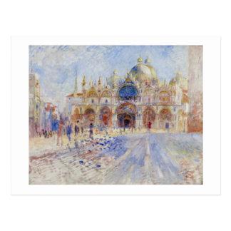 Carte Postale Piazza San Marco, Venise, 1881 (huile sur la