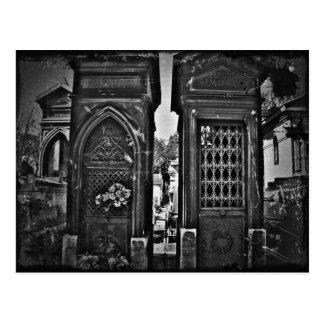 Carte Postale PIC de regard vintage de cimetière