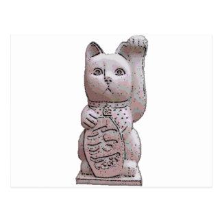 Carte Postale pierre de neko de maneki