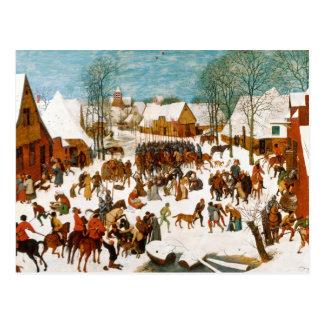 Carte Postale Pieter Bruegel l'Aîné-Massacre des innocents