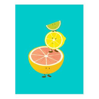Carte Postale Pile d'agrumes de sourire