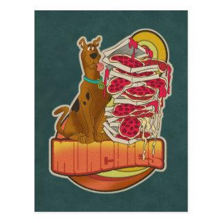 """Carte Postale Pile de Scooby-Doo   de graphique de """"Munchies"""" de"""
