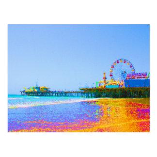 Carte Postale Pilier génial de Santa Monica de pixels