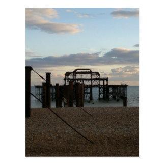Carte Postale Pilier occidental abandonné Brighton Angleterre