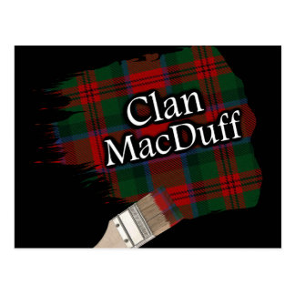 Carte Postale Pinceau écossais de tartan de MacDuff de clan