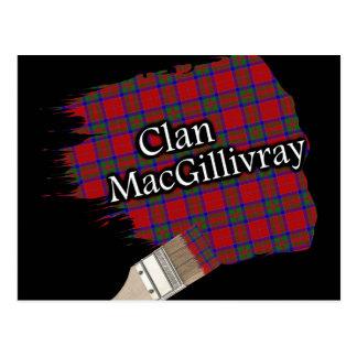 Carte Postale Pinceau écossais de tartan de MacGillivray de clan