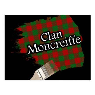 Carte Postale Pinceau écossais de tartan de Moncreiffe de clan