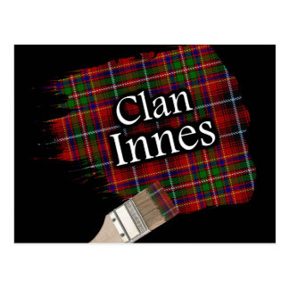Carte Postale Pinceau écossais de tartan d'Innes de clan