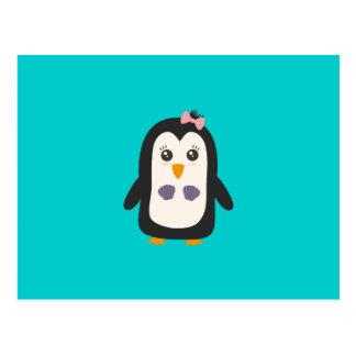 Carte Postale Pingouin avec le bikini