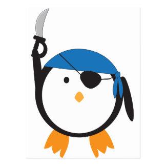 Carte Postale Pingouin de pirate