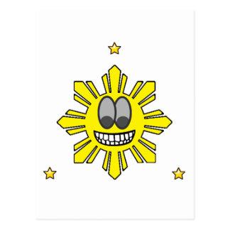 Carte Postale Pinoy Sun de sourire plus l'étoile