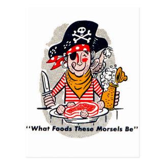 Carte Postale Pirate affamé de pochette d'allumettes vintage de