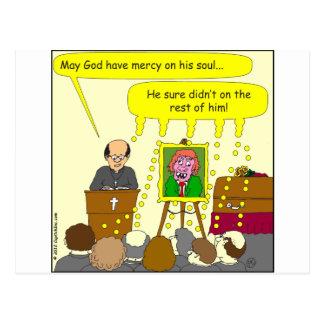 Carte Postale pitié de 377 enterrements sur sa bande dessinée