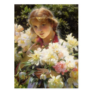 Carte Postale Pivoines par Charles Courtney Curran