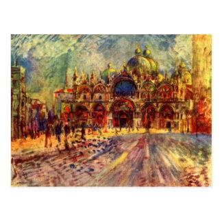 Carte Postale Place de Marcus à Venise par Pierre Renoir