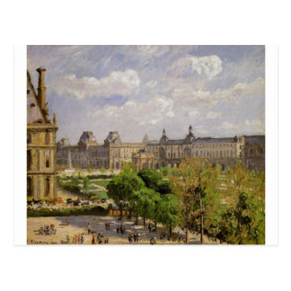 Carte Postale Place du Carrousel, les jardins de Tuileries